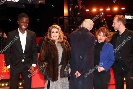 Stephane Bak, French actress Catherine Deneuve, French director Andre Techine, French screenwriter Lea Mysius, Swiss actor Kacey Mottet Klein arrive for the premiere of 'Farewell to the night' (L'Adieu a la nuit) during the 69th annual Berlin Film Festival, in Berlin, Germany, 12 February 2019. The movie is presented in the Official Competition at the Berlinale that runs from 07 to 17 February.