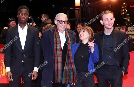 Stephane Bak, French director Andre Techine, French screenwriter Lea Mysius and Swiss actor Kacey Mottet Klein arrive for the premiere of 'Farewell to the night' (L'Adieu a la nuit) during the 69th annual Berlin Film Festival, in Berlin, Germany, 12 February 2019. The movie is presented in the Official Competition at the Berlinale that runs from 07 to 17 February.