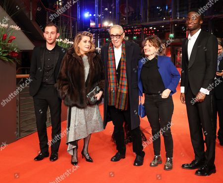 Kacey Mottet Klein, French actress Catherine Deneuve, French director Andre Techine, French screenwriter Lea Mysius and French actor Stephane Bak arrive for the premiere of 'Farewell to the night' (L'Adieu a la nuit) during the 69th annual Berlin Film Festival, in Berlin, Germany, 12 February 2019. The movie is presented in the Official Competition at the Berlinale that runs from 07 to 17 February.