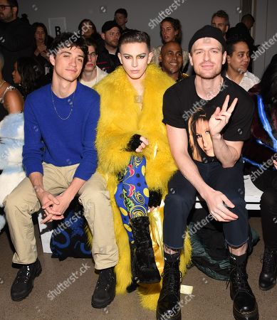 Editorial image of Christian Cowan show, Front Row, Fall Winter 2019, New York Fashion Week, USA - 12 Feb 2019