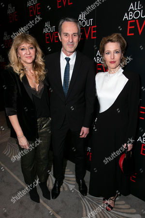 Sonia Friedman (Producer), Ivo van Hove (Director) and Gillian Anderson (Margo Channing)