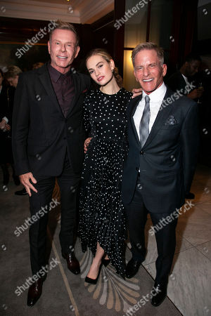 Tim Robinson, Lily James (Eve Harrington) and Bob Cohen (Producer)