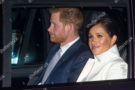 Meghan Duchess of Sussex and Prince Harry arrive at the Natural History Museum