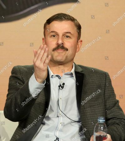 "Steve Lemme participates in the ""Tacoma FD"" panel during the truTV presentation at the Television Critics Association Winter Press Tour at The Langham Huntington, in Pasadena, Calif"