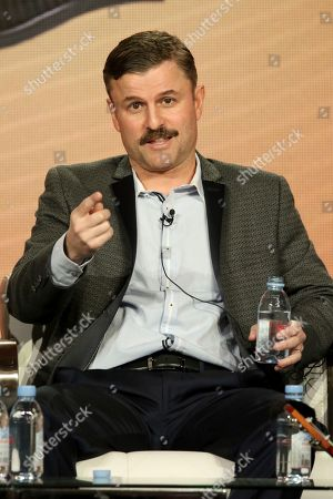 "Stock Photo of Steve Lemme participates in the ""Tacoma FD"" panel during the truTV presentation at the Television Critics Association Winter Press Tour at The Langham Huntington, in Pasadena, Calif"