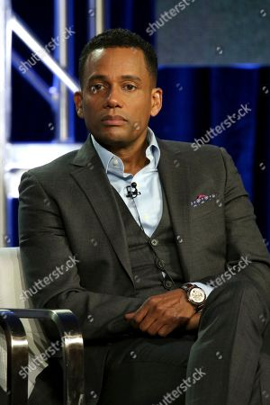 """Hill Harper participates in the """"CNN Headline News"""" panel during the HLN presentation at the Television Critics Association Winter Press Tour at The Langham Huntington, in Pasadena, Calif"""