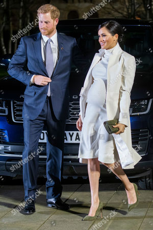 Prince Harry and Meghan Duchess of Sussex attend the gala performance of The Wider Earth in support of the Queen's Commonwealth Trust (QCT) and the production's official charitable partner, The Queen's Commonwealth Canopy (QCC).