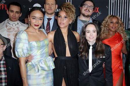Robert Sheehan, Tom Hopper, Cameron Britton, Ashley Madekwe, Emmy Raver-Lampman, Ellen Page, Mary J Blige