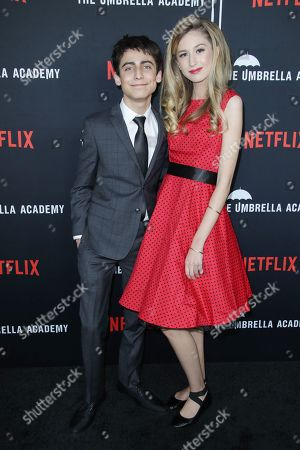 Stock Photo of Aidan Gallagher and Trinity Drummond