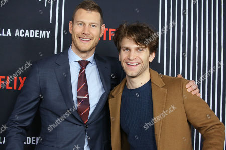 Stock Picture of Tom Hopper and Keegan Allen