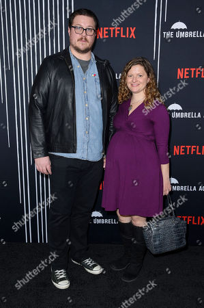 Stock Image of Cameron Britton and guest