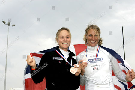 British Olympic aspirants and Tem GB squad members - 470 Womens class - Pippa Wilson helmswoman, and Saskia Clark, crew woman who went onto win bronze at the event