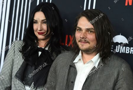 "Lyn-Z, Gerard Way. Lyn-Z and Gerard Way arrive at the Los Angeles premiere of ""The Umbrella Company"" at The Arclight Hollywood on"
