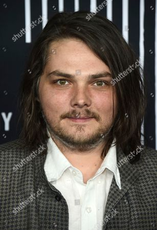 "Gerard Way arrives at the Los Angeles premiere of ""The Umbrella Company"" at The Arclight Hollywood on"