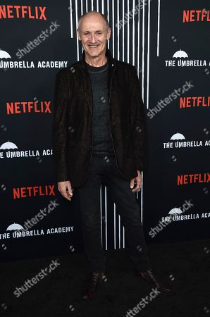 """Colm Feore arrives at the Los Angeles premiere of """"The Umbrella Company"""" at The Arclight Hollywood on"""