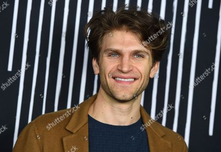 """Keegan Allen arrives at the Los Angeles premiere of """"The Umbrella Company"""" at The Arclight Hollywood on"""