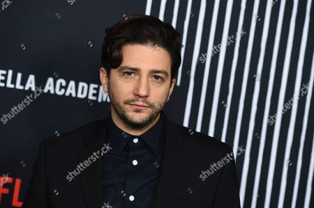 """John Magaro arrives at the Los Angeles premiere of """"The Umbrella Company"""" at The Arclight Hollywood on"""