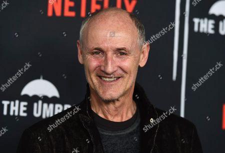 """Editorial photo of LA Premiere of """"The Umbrella Company"""", Los Angeles, USA - 12 Feb 2019"""