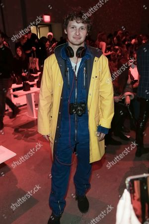 Warren Elgort attends The Blonds Runway Show held at Spring Studios during New York Fashion Week on in New York