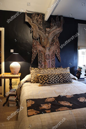 Detail of bedroom in Martin Waller's apartment