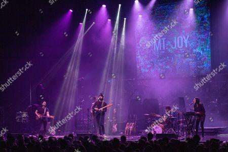 Stock Picture of Mt. Joy - Sam Cooper, Michael Byrnes, Matt Quinn, Sotiris Eliopoulos and Jackie Miclau
