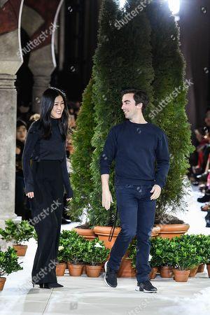 Laura Kim, and Fernando Garcia on the catwalk