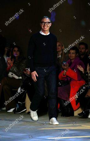 Stuart Vevers on the catwalk