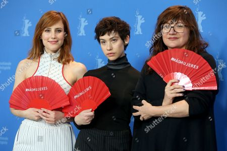 Natalia de Molina and Greta Fernandez with director Isabel Coixet pose during the photocall of 'Elisa and Marcela' (Elisa y Marcela) during the 69th annual Berlin Film Festival, in Berlin, Germany, 13 February 2019. The movie is presented in the Official Competition at the Berlinale that runs from 07 to 17 February.