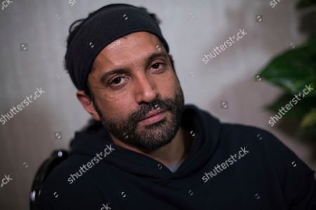 Actor and UN He for She Ambassador Farhan Akhtar is interviewed by the Associated Press in London