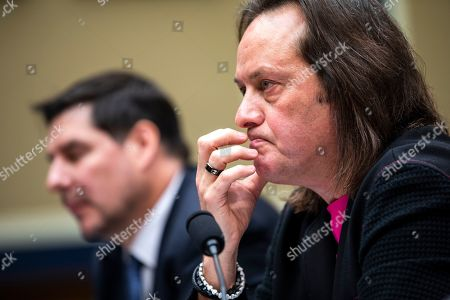 John Legere, CEO of T-Mobile, testifies before a House Energy and Commerce Committee hearing on 'the state of competition in the wireless market' in the Rayburn House Office Building in Washington, DC, USA, 13 February 2019. Legere and Marcelo Claure, executive chairman of Sprint, defended the proposed 26 billion US dollar merger between T-Mobile and Sprint.