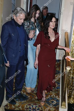 Michael Douglas, Carys Zeta-Douglas and Catherine Zeta-Jones