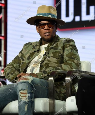 """Stock Image of D L Hughley speaks during TV One's """"Uncensored"""" and """"The D.L. Hugely Show"""" panel during the Winter Television Critics Association Press Tour, in Pasadena, Calif"""