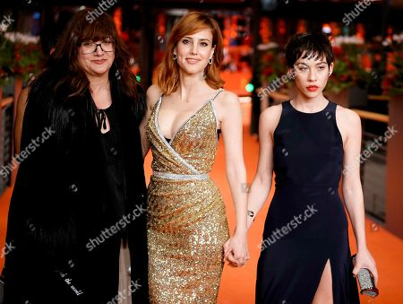 Stock Photo of Isabel Coixet (L), Spanish actresses Natalia de Molina (C) and Greta Fernandez arrive for the premiere of 'Elisa & Marcela' during the 69th annual Berlin Film Festival, in Berlin, Germany, 13 February 2019. The movie is presented in the Official Competition at the Berlinale that runs from 07 to 17 February.