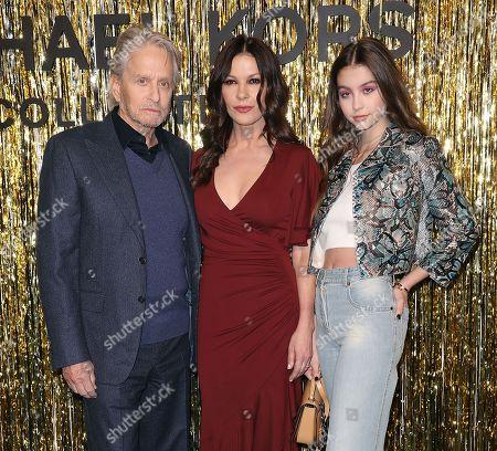 Michael Douglas, Catherine Zeta-Jones and Carys Zeta-Douglas