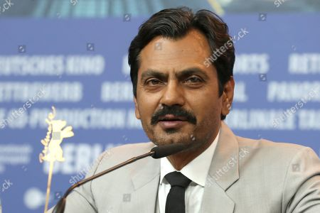 Nawazuddin Siddiqui attends a press conference during the 69th annual Berlin Film Festival, in Berlin, Germany, 13 February 2019. The movie is presented in the Berlinale Especial at the Berlinale that runs from 07 to 17 February.
