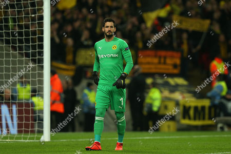 Roman Burki of Borussia Dortmund during Tottenham Hotspur vs Borussia Dortmund, UEFA Champions League Football at Wembley Stadium on 13th February 2019