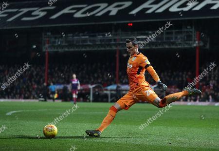 Aston Villa goalkeeper Lovre Kalinic