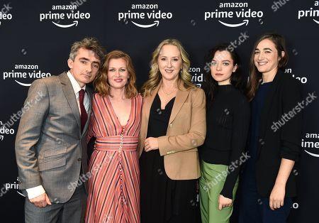 David Farr, Mireille Enos, Jennifer Salke, Esme Creed-Miles and Sarah Adina Smith attend the Amazon Studios Winter 2019 TCA