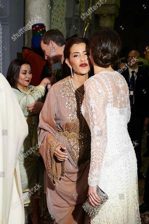 King Felipe VI, Queen Letizia, King Mohammed VI of Morocco, Prince Moulay Hassan, Princess Lalla Meryem of Morocco, Princess Lalla Hasna of Morocco, Princess Lalla Asma of Morocco