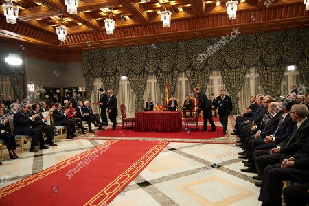 Stock Picture of King Felipe VI, King Mohammed VI of Morocco, Prince Moulay Hassan, Prince Moulay Rachid of Morocco El Alaoui of Morroco