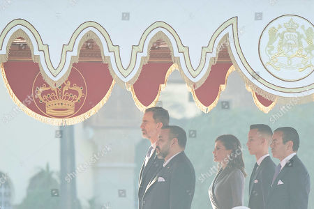 Queen Letizia, King Felipe VI, Prince Moulay Rachid of Morocco El Alaoui of Morrocom, Prince Moulay Hassan