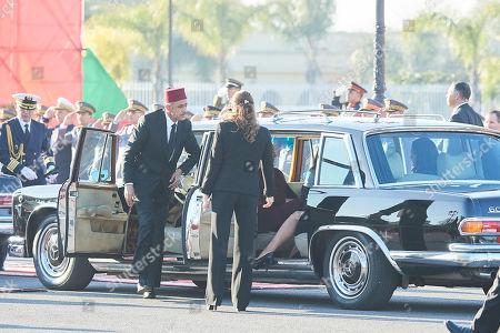 Queen Letizia, Lalla Khadija, Princess Lalla Meryem of Morocco, Princess Lalla Hasna of Morocco, Princess Lalla Asma of Morocco
