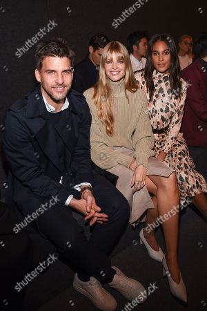 Johannes Huebl, Julia Stegner and Cindy Bruna in the front row
