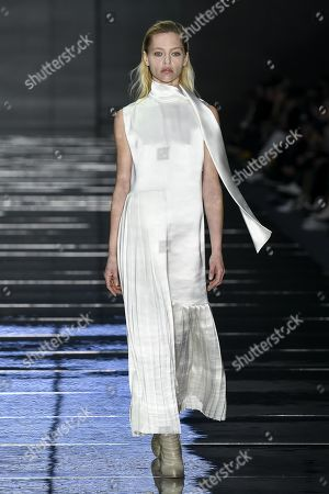 Stock Image of Sasha Pivovarova on the catwalk