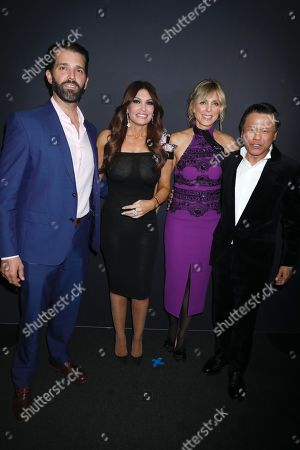 Donald Trump Jnr., Kimberly Guilfoyle, Marla Maples and Zang Toi in the front row