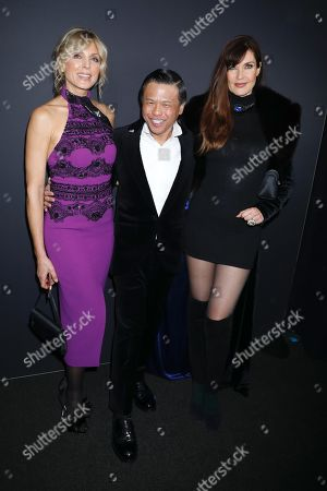 Stock Picture of Marla Maples, Zang Toi and Carol Alt in the front row