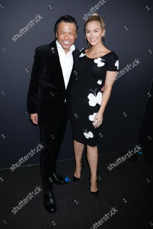 Zang Toi and Sarah Rose Summers, Miss USA 2018 in the front row