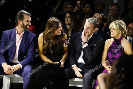 Donald Trump Jnr., Kimberly Guilfoyle, Bill Hemmer and Marla Maples in the front row
