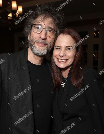 Donna Rosenstein and Neil Gaiman attend the Amazon Studios Winter 2019 TCA