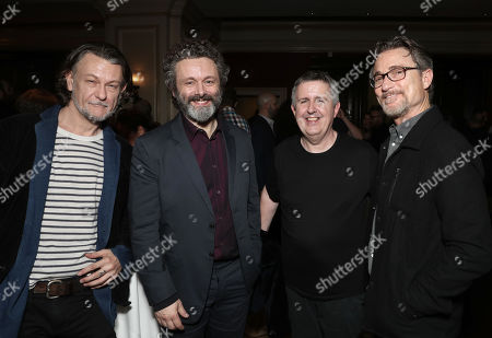Stock Image of Ben Edlund, Michael Sheen, Douglas Mackinnon and Barry Josephson attend the Amazon Studios Winter 2019 TCA